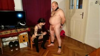 Beth Kinky – Sexy goth domina cbt & dick spanking fat slave pt1 HD