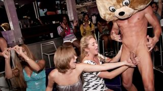 DANCING BEAR – Group Of Horny Women Getting Dicked Down By Male Strippers