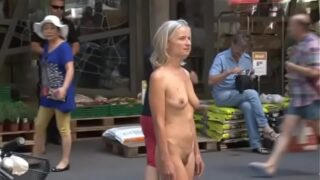 Granny nude in <strong>public</strong>