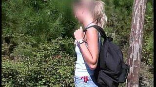 blonde teen sucks stranger at beach