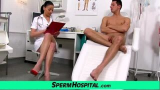 Czech milf doctor Renate mom with boy hospital sperm extraction